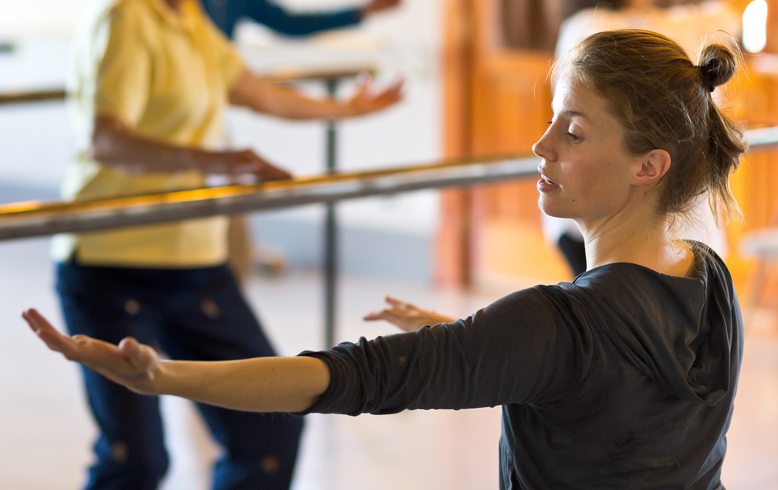 Corrie Befort teaching dance