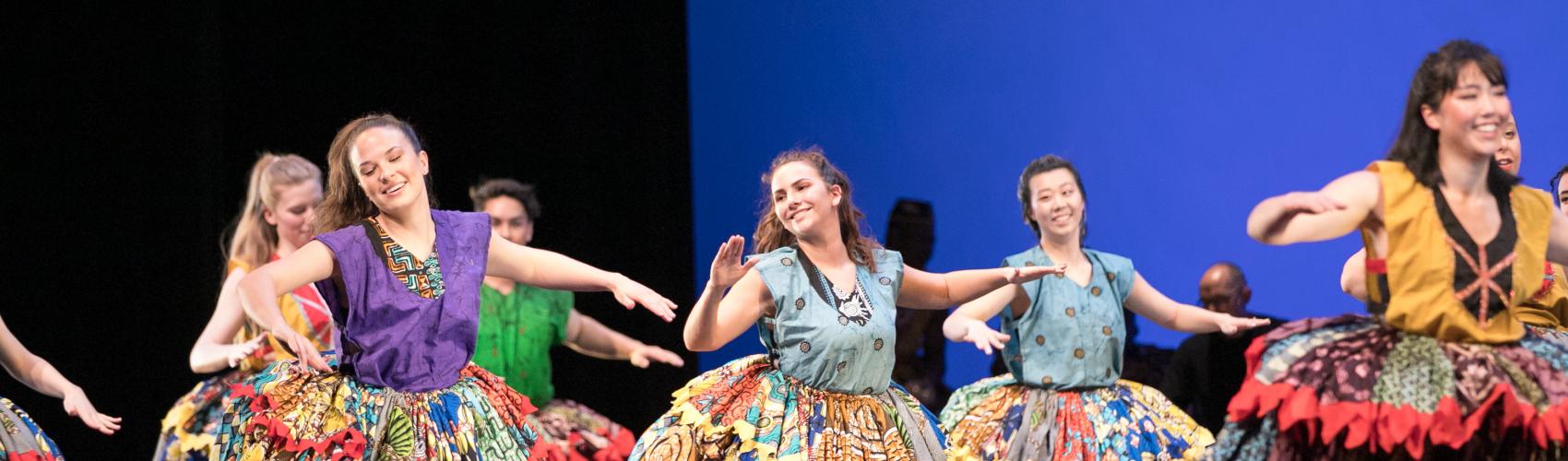 "Dancers performing ""Sakpata"" by Etienne Cakpo"