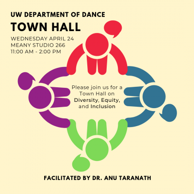 UW Department of Dance Town Hall on Diversity, Equity and Inclusion
