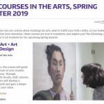"""photo of Colege and Arts & Sciences article, """"Cool Courses in the Arts"""""""