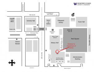 Map of UW Meany Hall