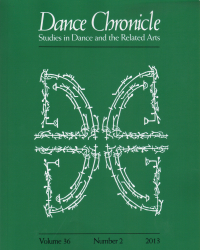 Cover of Dance Chronicle volume 36, number 2