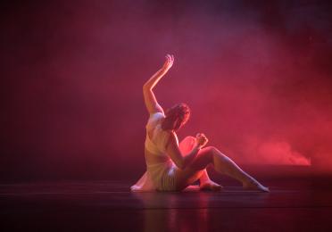dancer in a pink cloud