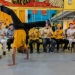 Silvio in handstand playing capoeira